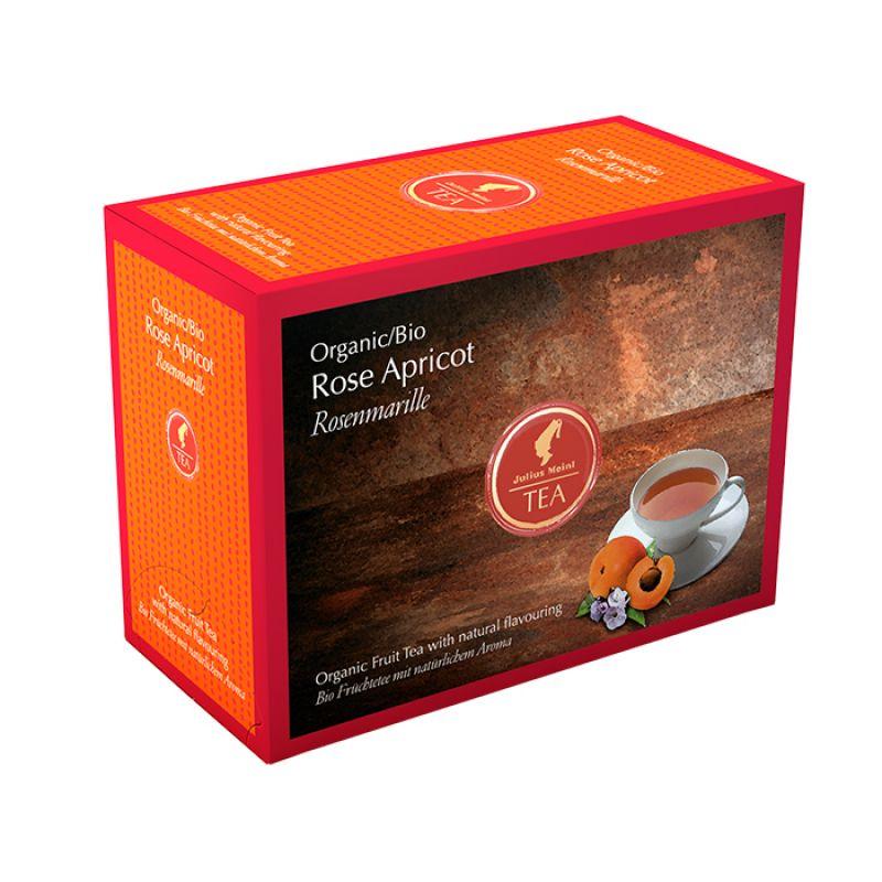 Органический фруктовый чай Julius Meinl Bio Rose Apricot Роза Абрикос 20 x 3,5 г.