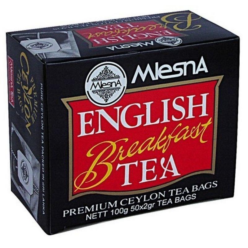 Черный чай Mlesna Английский завтрак в пакетиках 02-010 100г.