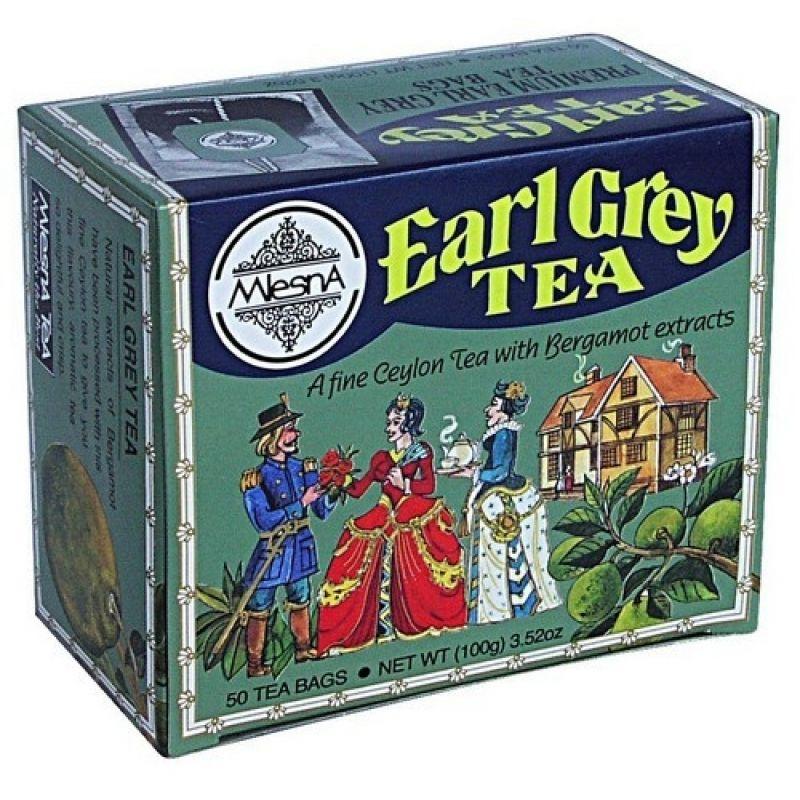 Черный чай Mlesna Эрл грей в пакетиках 02-020 100г.