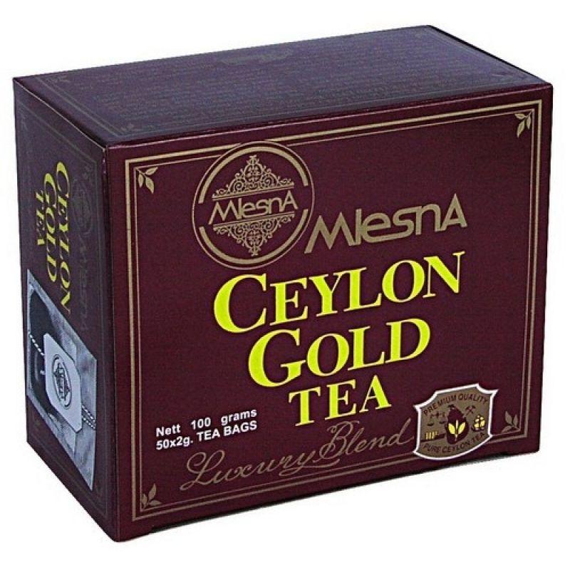 Черный чай Mlesna Цейлон Голд в пакетиках 02-014 200г.
