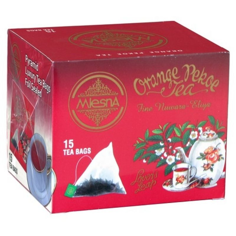 Черный чай Mlesna Оранж Пеко в пакетиках 02-098 30г.