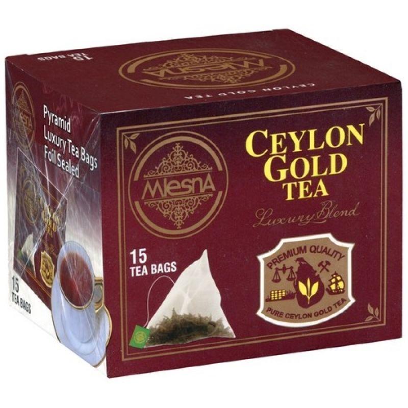 Черный чай Mlesna Цейлон Голд в пакетиках 02-099 30г.