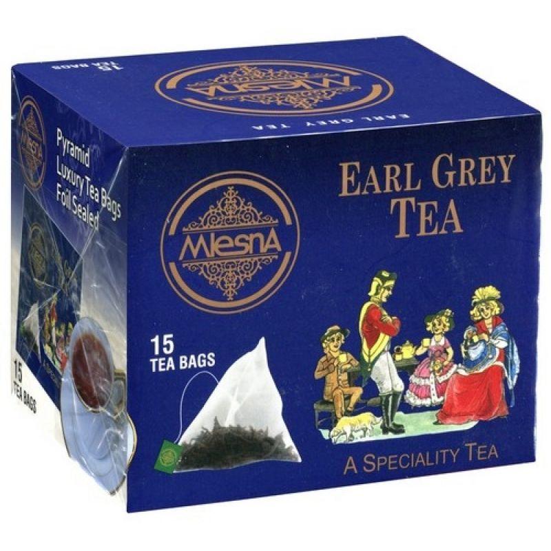 Черный чай Mlesna Эрл грей в пакетиках 02-101 30г.
