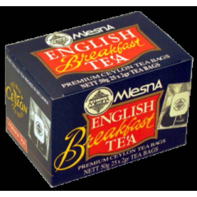 Черный чай Mlesna Английский завтрак в пакетиках 02-009 50г.