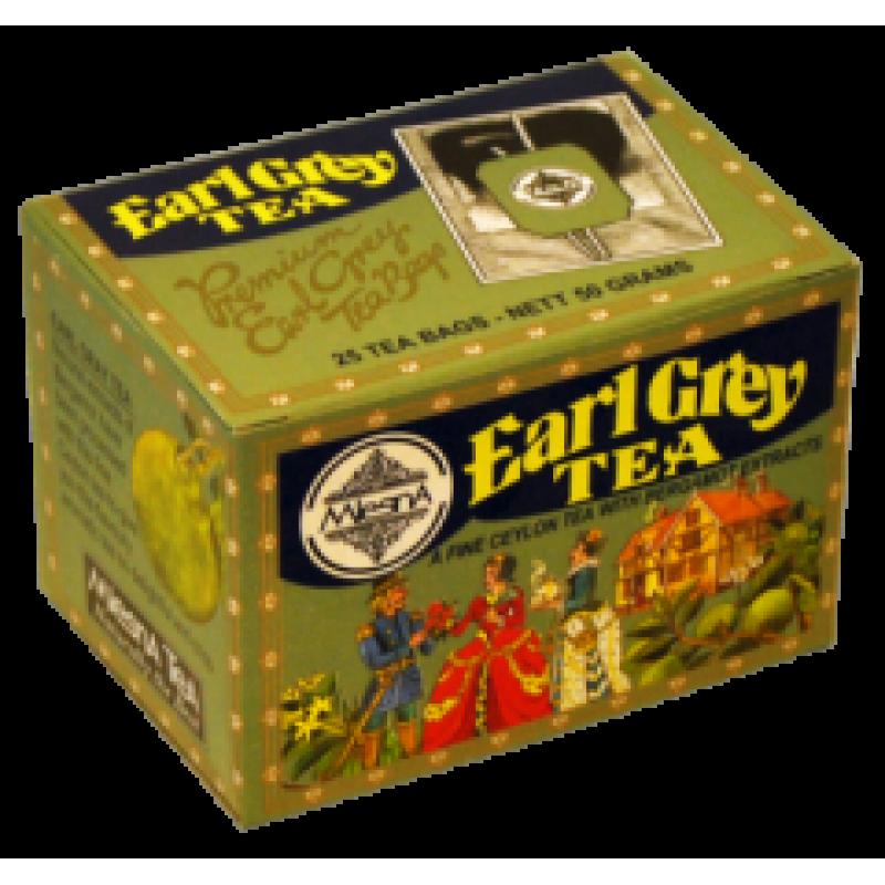Черный чай Mlesna Эрл грей в пакетиках 02-018 50г.
