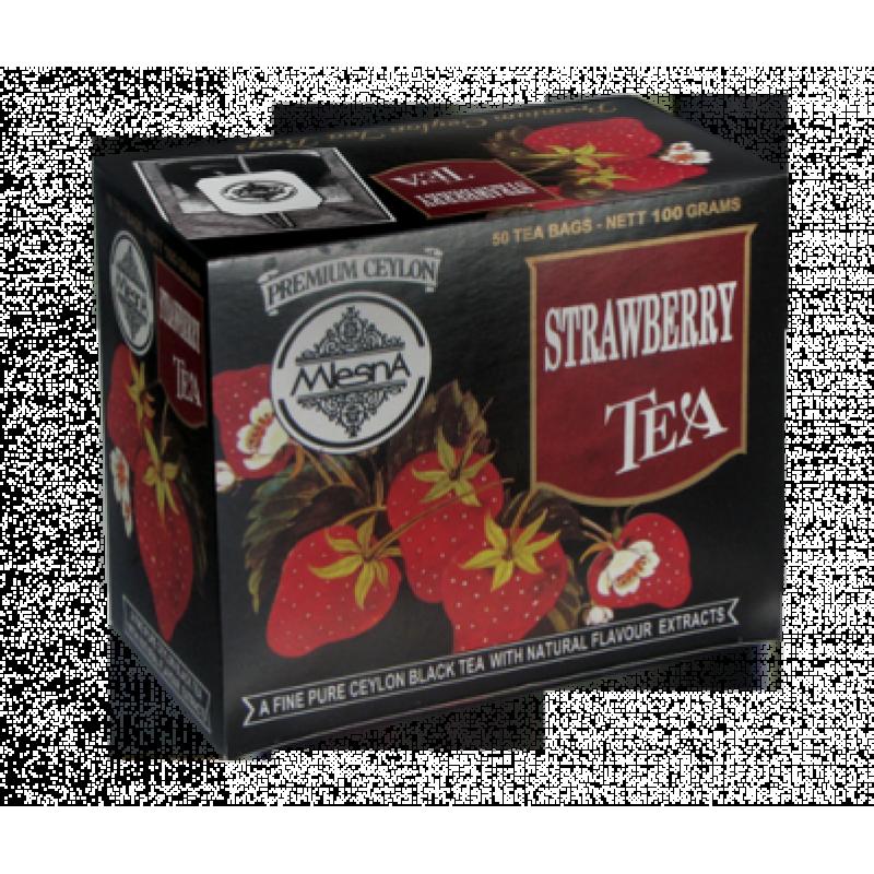 Черный чай Mlesna Клубника в пакетиках 100г