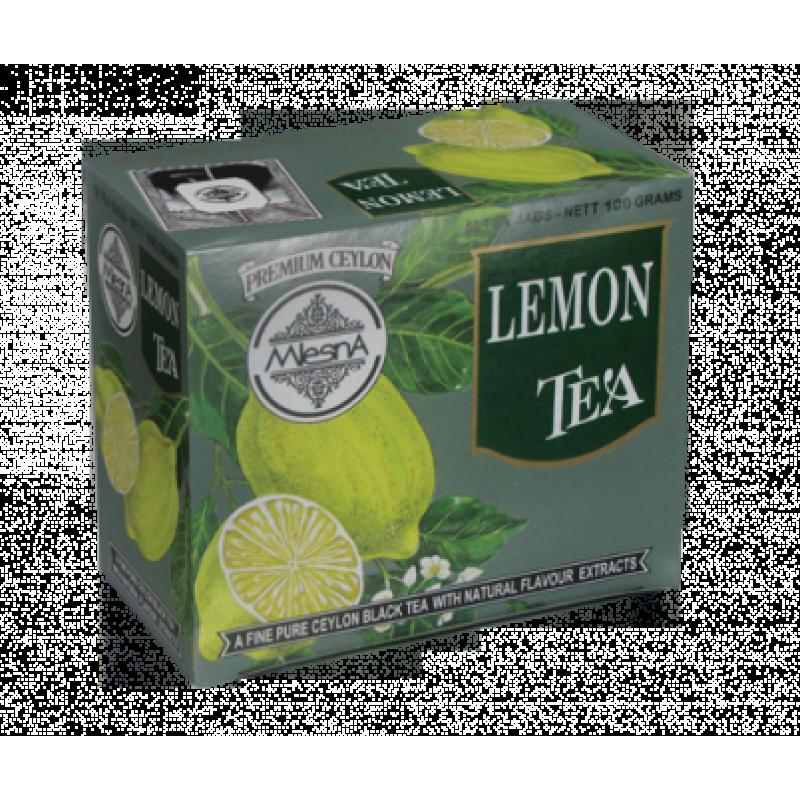 Черный чай Mlesna Лимон в пакетика 100г