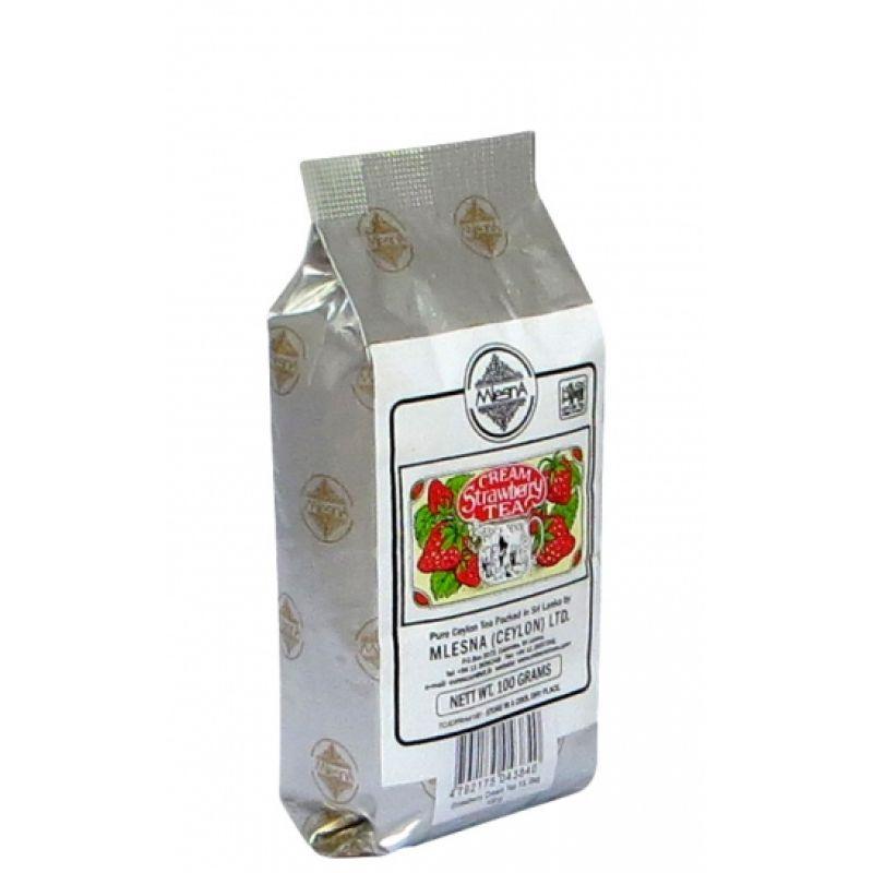 Черный чай Mlesna Клубника со сливками 100г