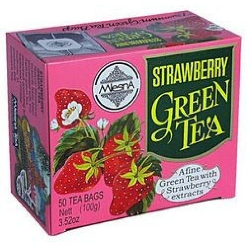 Зеленый чай Mlesna клубника 50 пакетиков