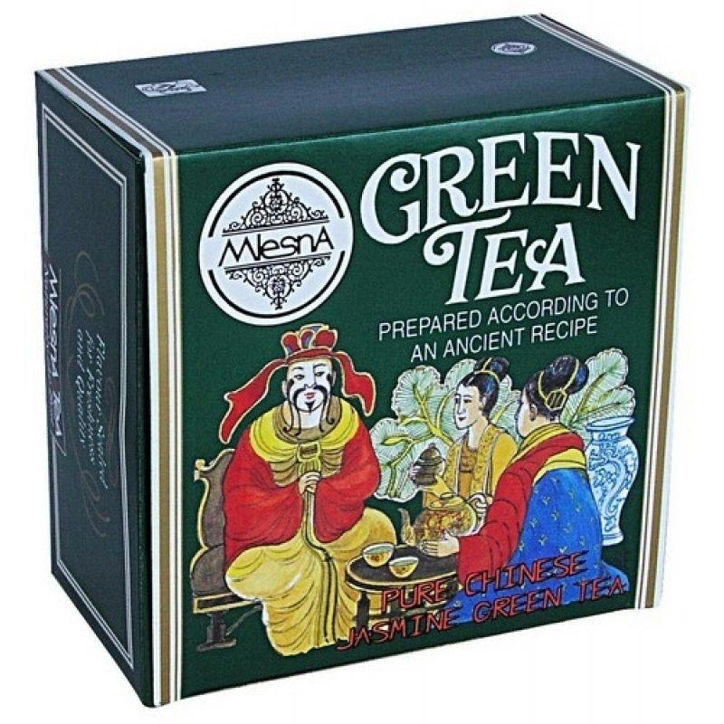 Зеленый чай Mlesna Жасминовый в пакетиках 02-043 100г.