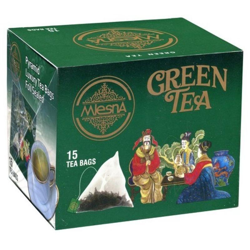 Зеленый чай Mlesna в пирамидках в пакетиках 02-102 30г.